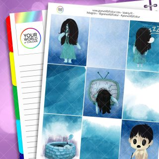 Horror Weekly Planner Sticker Kit