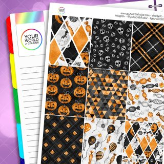 Trick Treats Weekly Planner Sticker Kit