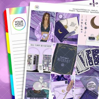 Witchcraft Weekly Planner Sticker Kit