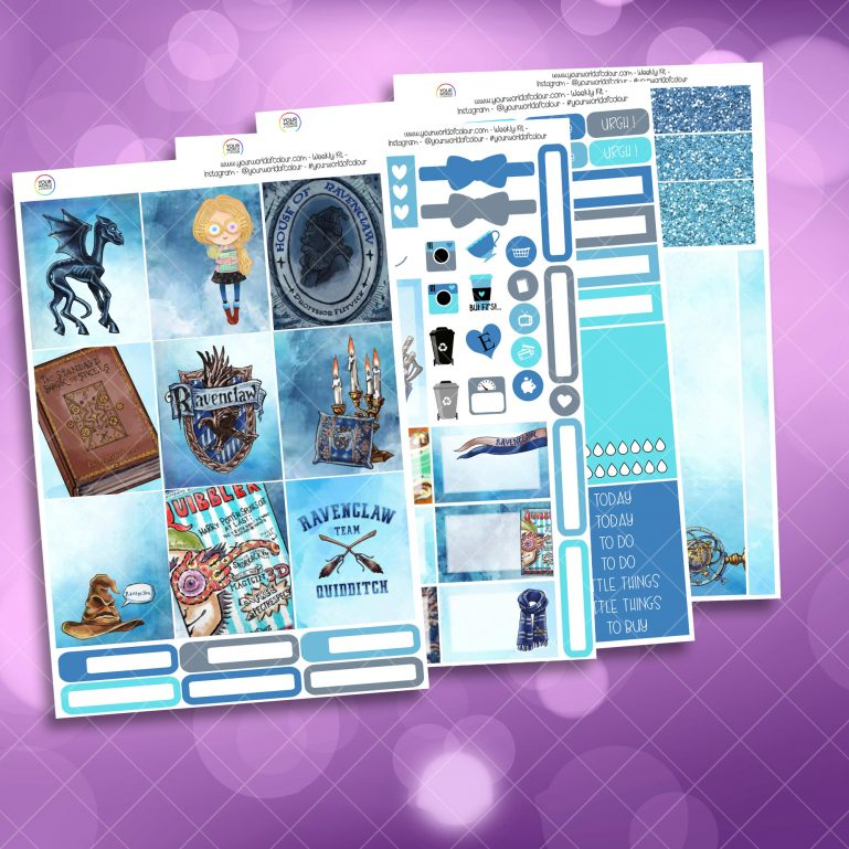 Interlectual Wizard Full Four Sheet Weekly Planner Sticker Kit