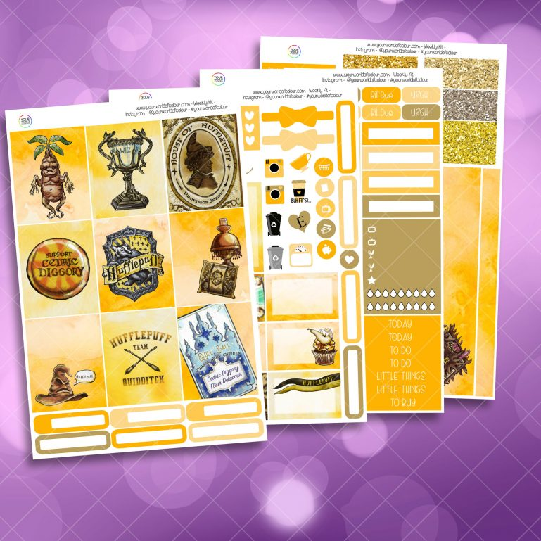 Loyal Wizard Full Four Sheet Weekly Planner Sticker Kit