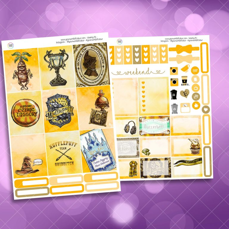 Loyal Wizard Two Sheet Weekly Planner Sticker Kit