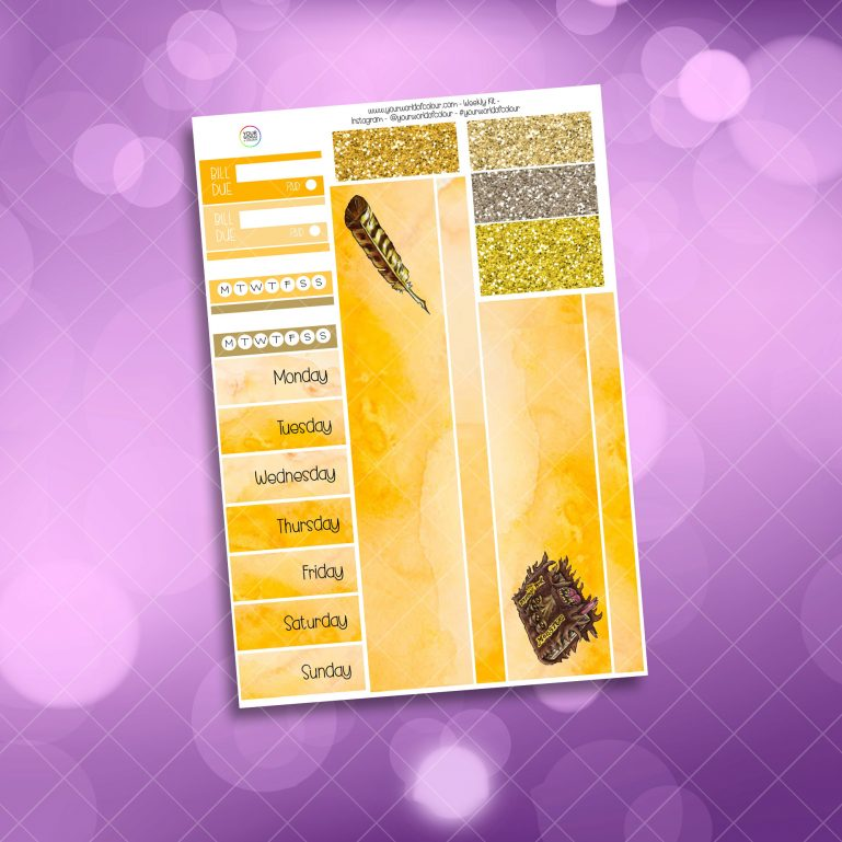 Loyal Wizard Washi and Date Cover Stickers