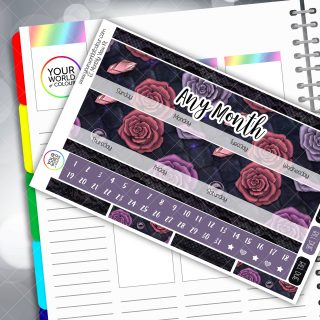 Deep Rose Monthly Planner Sticker Kit