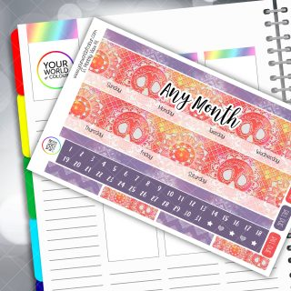 Mandala Monthly Planner Sticker Kit