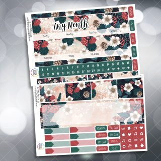 Christmas Floral Monthly Planner Sticker
