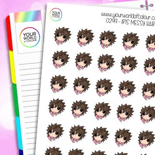 Messy Hair Iris Character Stickers