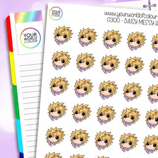 Messy Hair Daisy Character Stickers
