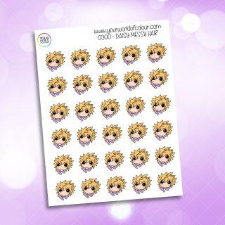 Messy Hair Daisy Character Sticker