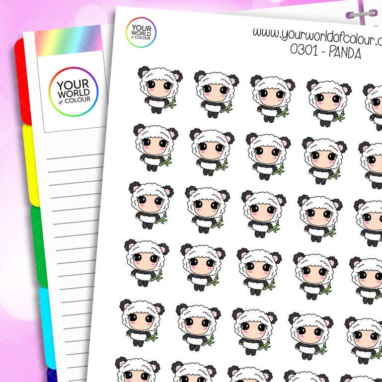 Panda Character Stickers