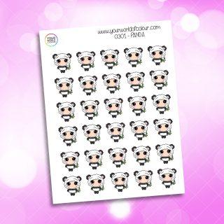 Panda Character Sticker