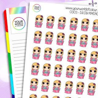 Kimono Daisy Character Stickers
