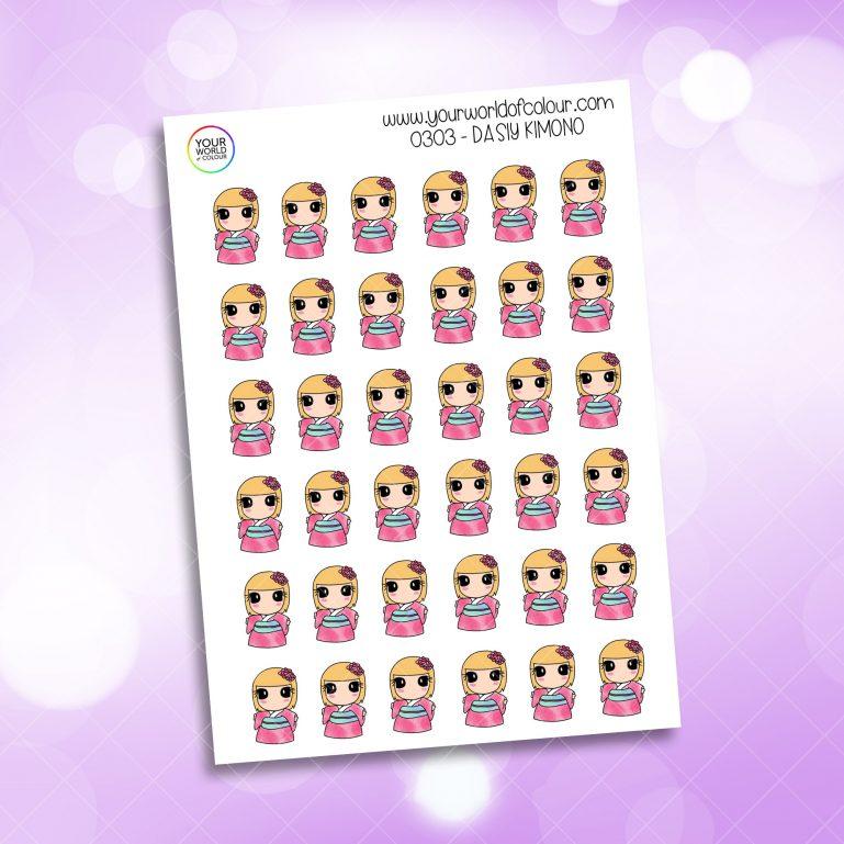Kimono Daisy Character Sticker