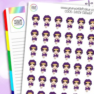 Shower Daisy Character Stickers