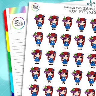 Mask Poppy Character Stickers