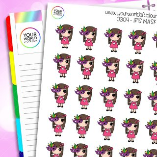 Mask Iris Character Sticker