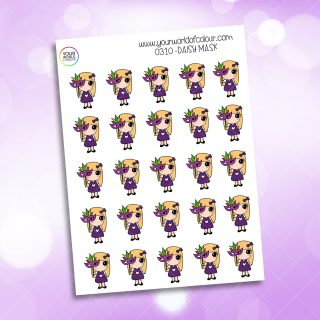Mask Daisy Character Stickers