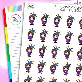 Jester Iris Character Stickers