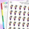 Jester Daisy Character Stickers