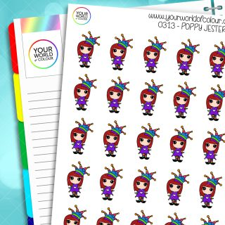Jester Poppy Character Stickers
