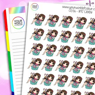 Candy Iris Character Stickers