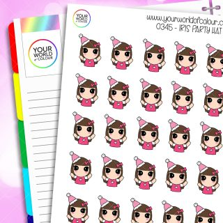 Party Hat Character Stickers