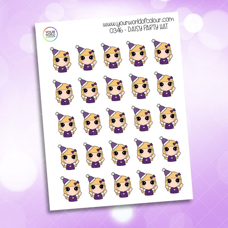 Party Hat Daisy Character Sticker