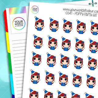 Party Hat Poppy Character Stickers