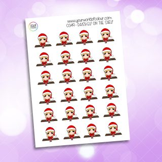 Elf On The Shelf Daisy Character Sticker