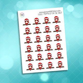 Elf On The Shelf Poppy Character Sticker