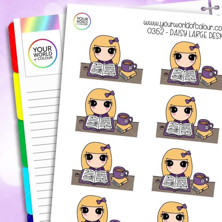 Large Desk Daisy Character Stickers