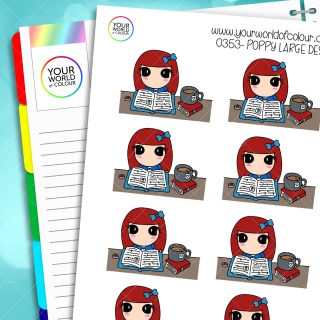 Large Desk Poppy Character Stickers