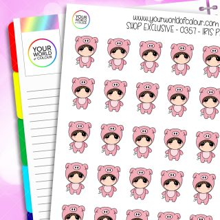 Pig Iris Character Stickers