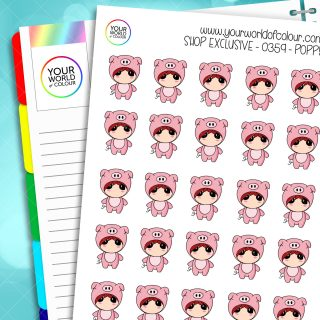 Pig Poppy Character Stickers