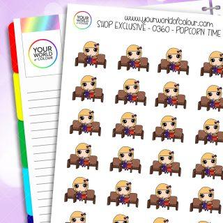 Popcorn Daisy Character Stickers