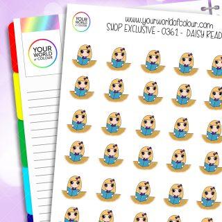Reading Daisy Character Stickers