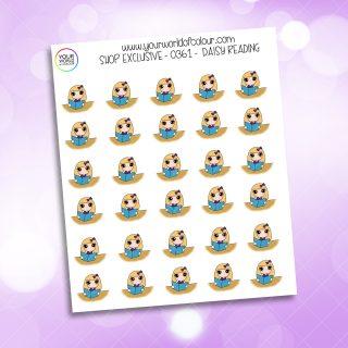 Reading Daisy Character Sticker