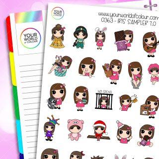 Sampler Iris 7.0 Character Stickers