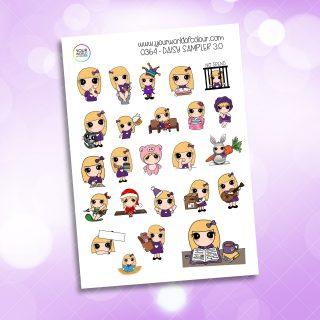 Sampler Daisy 3.0 Character Sticker
