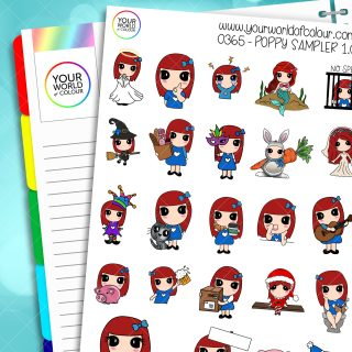 Sampler Poppy 1.0 Character Stickers