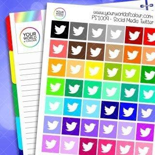 Twitter Planner Stickers