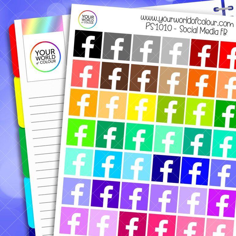 FB Social Media Planner Stickers