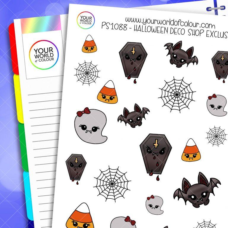 Halloween Deco Planner Stickers