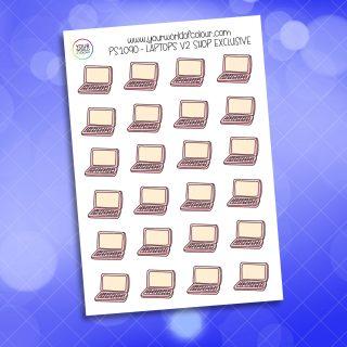 Laptops Planner Sticker - V2