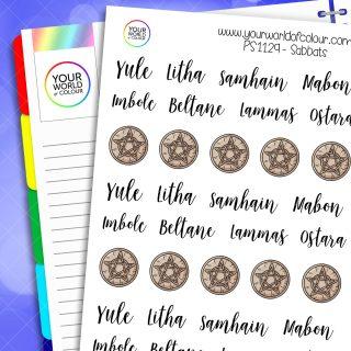 Sabbats Planner Stickers