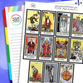 Major Arcana Tarot Card Planner Stickers
