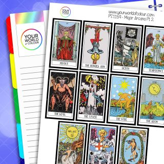 Major Arcana Tarot Cards Planner Stickers