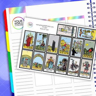 House Of Cups Tarot Card Planner Stickers
