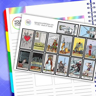 House Of Swords Tarot Card Planner Stickers