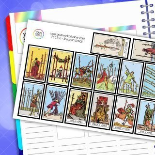 House Of Wands Card Planner Stickers